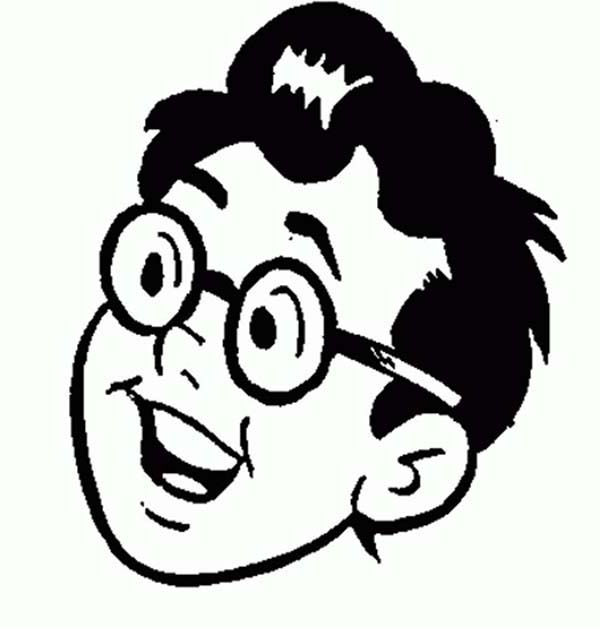 Archie, : Dilton Doileys Head Picture in Archie Comics Coloring Page