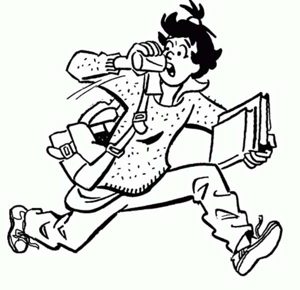 Archie, : Ethel Muggs is Getting Late for School in Archie Comics Coloring Page
