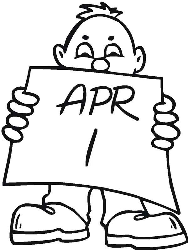 April fools, : Get Ready for Any Surprised on April Fools Day Coloring Page