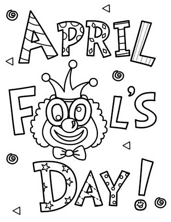 April fools, : Happy April Fools Day Coloring Page