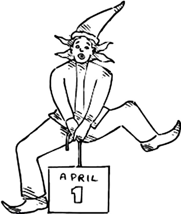 April fools, : Happy April Fools Day for Everybody Coloring Page