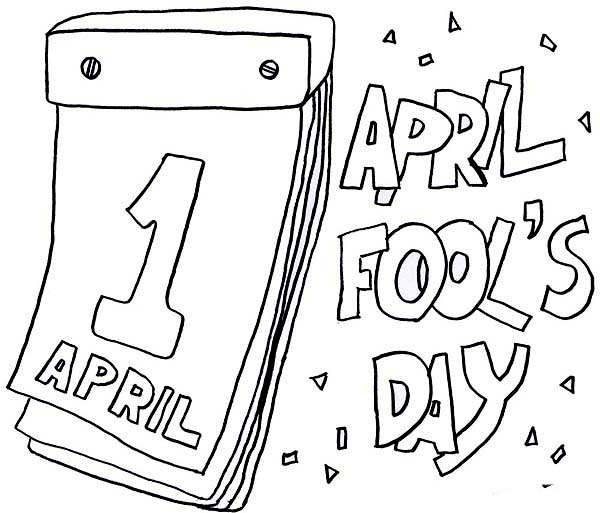 April fools, : Lets Put Everyone on Joke on April Fools Day Coloring Page