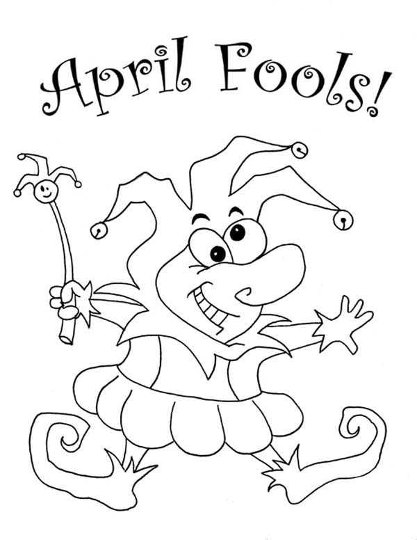 Look Out For April Fools Day Coloring Page
