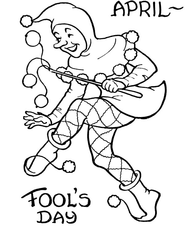 April fools, : Picture of April Fools Day Coloring Page