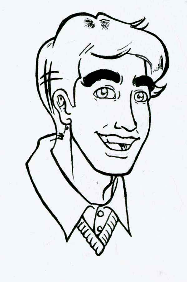 Archie, : Reggie Mantle from Archie Comics Coloring Page