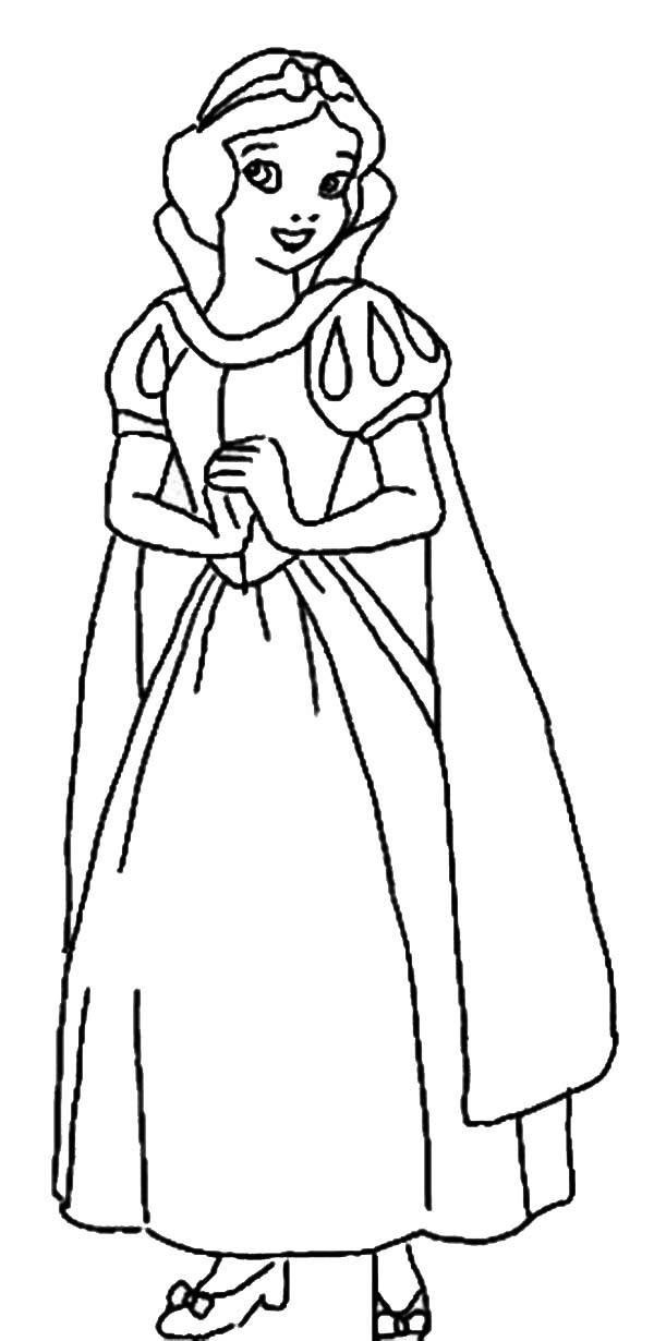 snow white coloring page for kids