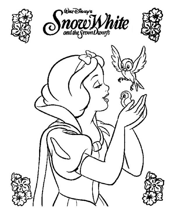 snow white movie poster coloring page