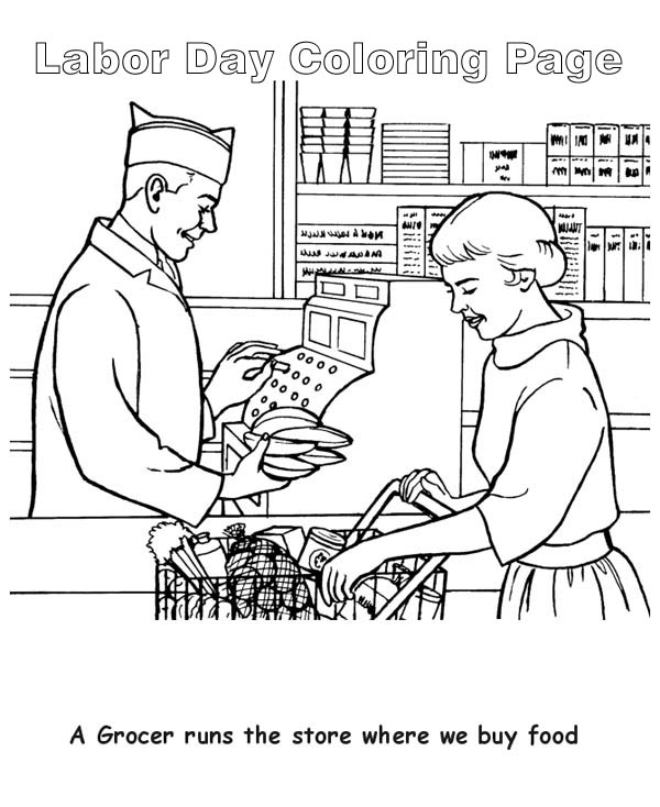 Grocery stores coloring pages