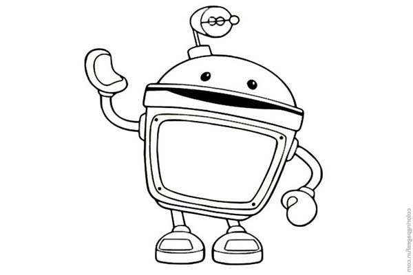 Amazing Bot from Team Umizoomi Coloring Page | Color Luna