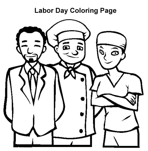 american workers in labor day coloring page