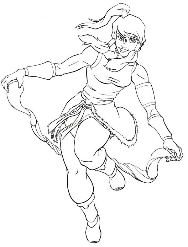 The Legend of Korra, : Awesome Korra Coloring Page