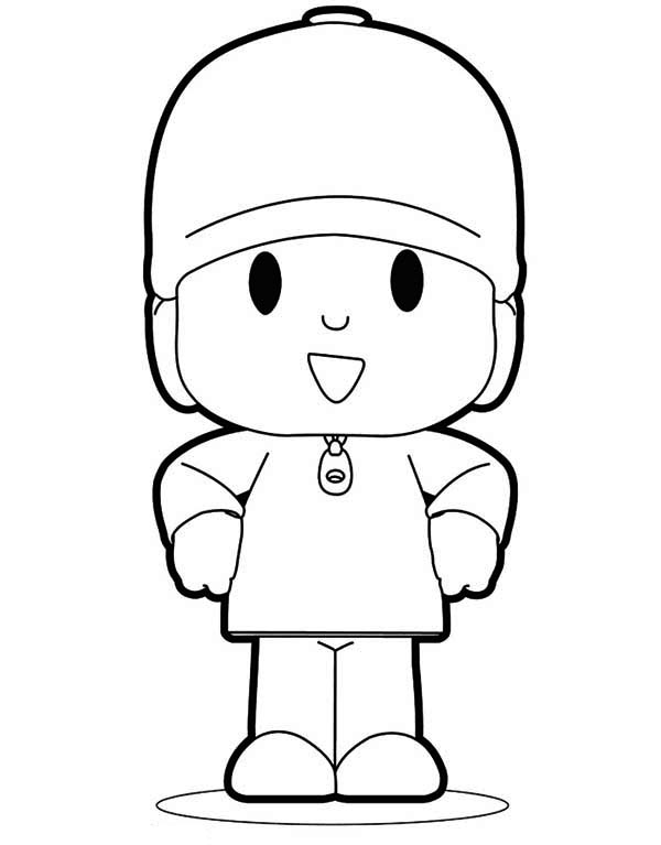 Awesome Pocoyo Coloring Page Color Luna