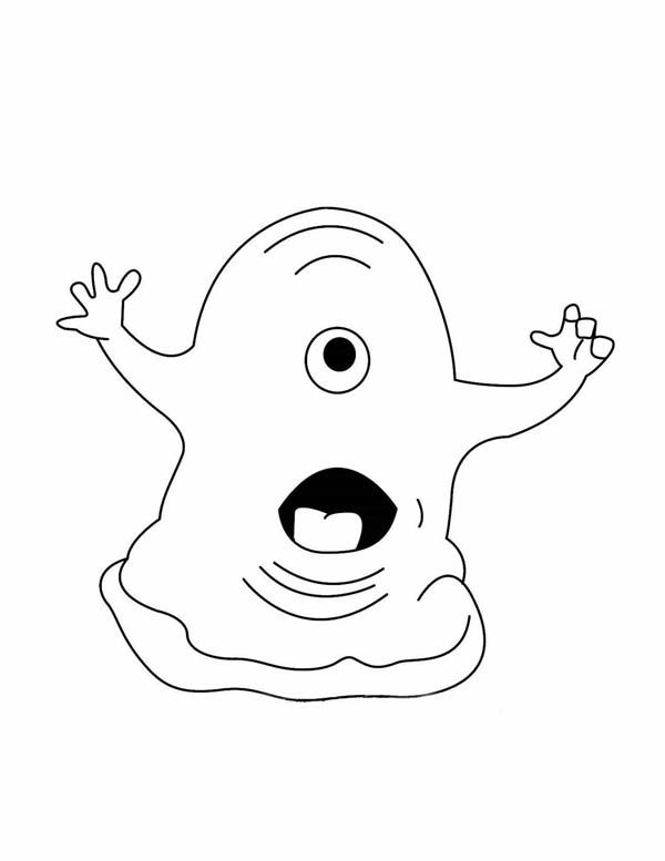 Monsters vs Aliens, : BOB from Monster vs Aliens Coloring Page