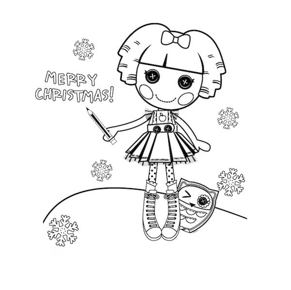 bea spells a lot merry christmas lalaloopsy coloring page - Lalaloopsy Coloring Pages