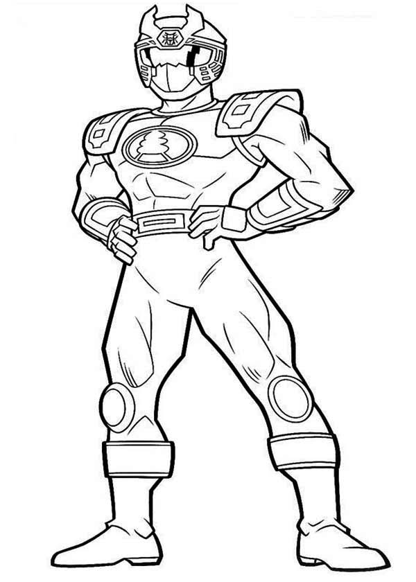 Blue Ranger in Power Rangers Ninja Storm Coloring Page | Color Luna