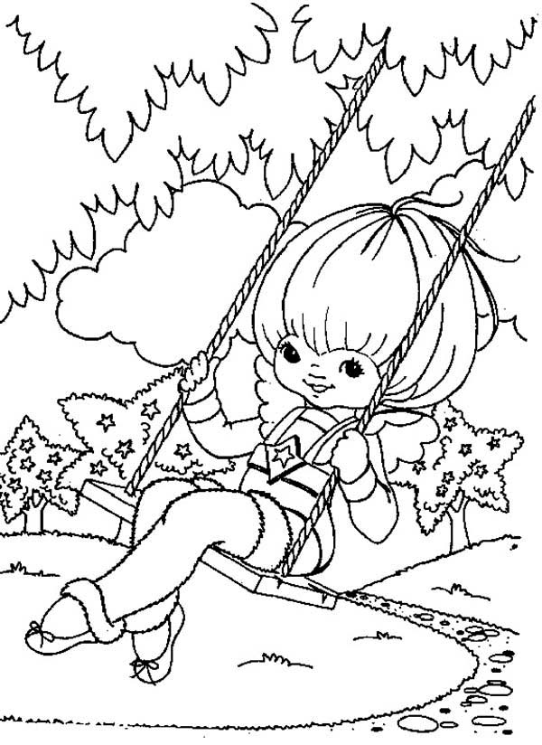 Rainbow Brite, : Canary Yellow Play Swing in Rainbow Brite Coloring Page