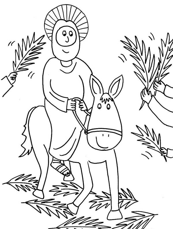 Free Jesus Entering Jerusalem Coloring Pages