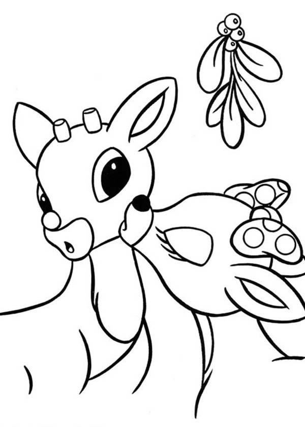 Clarice Kiss Rudolph the Red Nosed Reindeer Coloring Page Color Luna