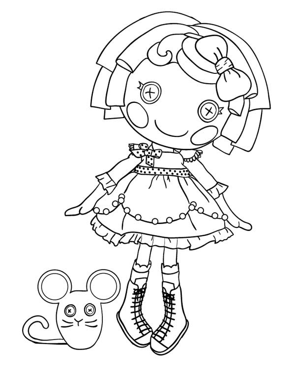 Crumbs Sugar Cookie from Lalaloopsy Coloring Page Color Luna