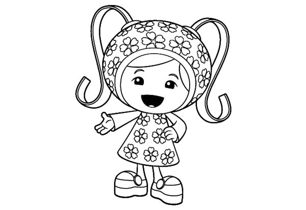 Cute Little Milli in Team Umizoomi Coloring Page Color Luna