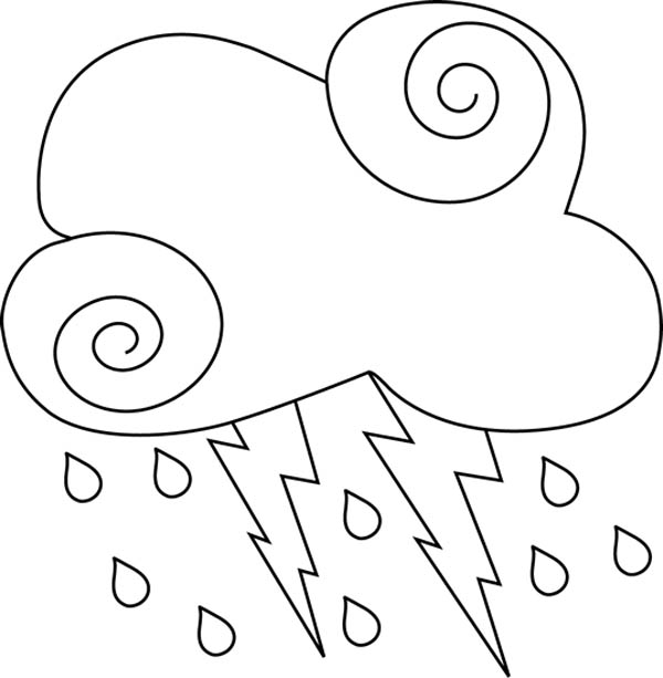 Lightning Bolt, : Dangerous to Stay Outside Lighting Bolt Coloring Page