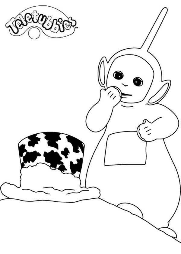 Teletubbies, : Dipsy New Hat in the Teletubbies Coloring Page