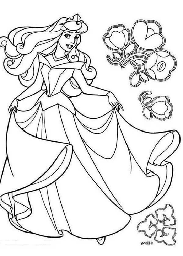 Sleeping Beauty, : Disney Princess Aurora in Sleeping Beauty Coloring Page