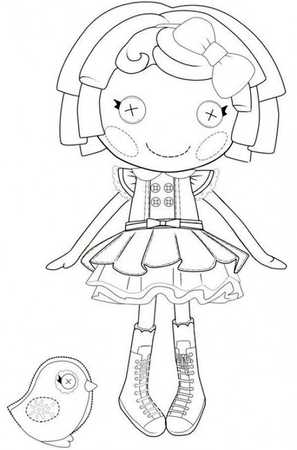 Lalaloopsy, : Dot Starlight from Lalaloopsy Coloring Page