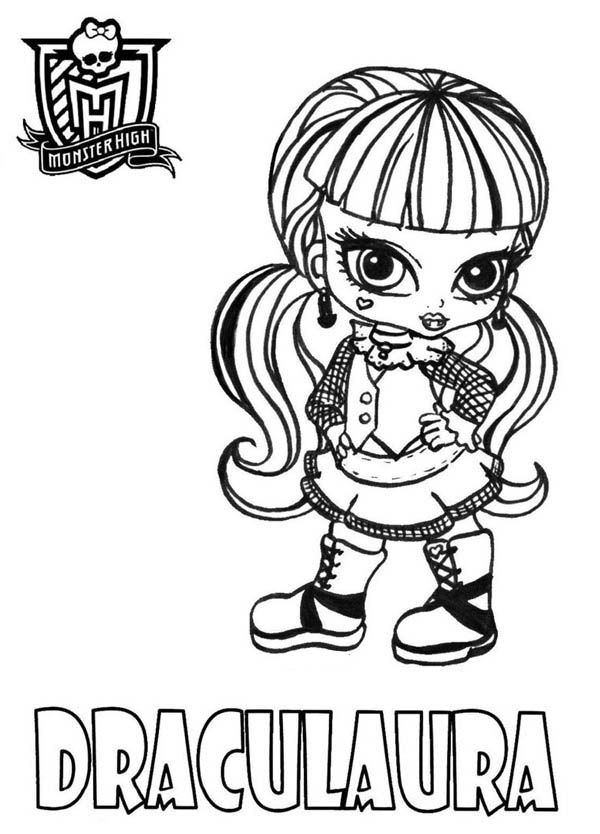 draculaura from monster high coloring page - Monster High Coloring Pages