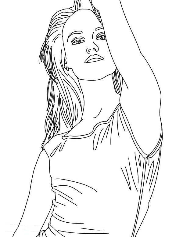 Taylor Swift, : Drawing Taylor Swift Coloring Page