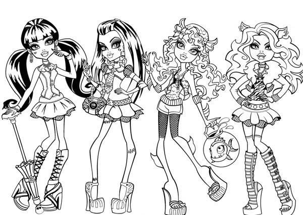 fashion show in monster high coloring page - Fashion Coloring Pages