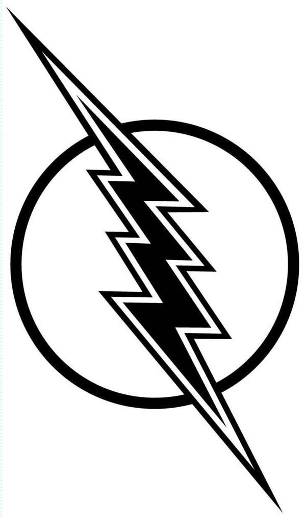 Lightning Bolt, : Flash Gordon Lighting Bolt Coloring Page