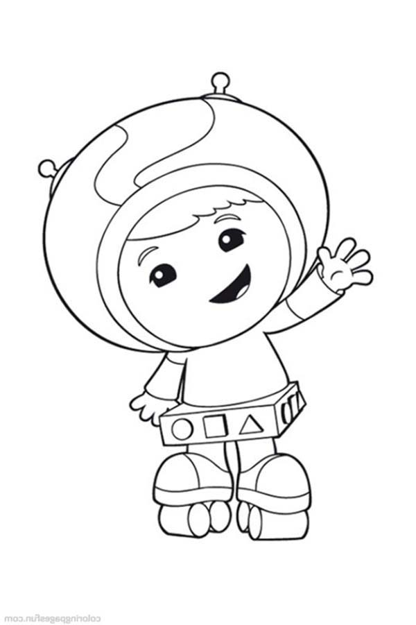 Team Umizoomi, : Geo Big Smile fro Kids in Team Umizoomi Coloring Page