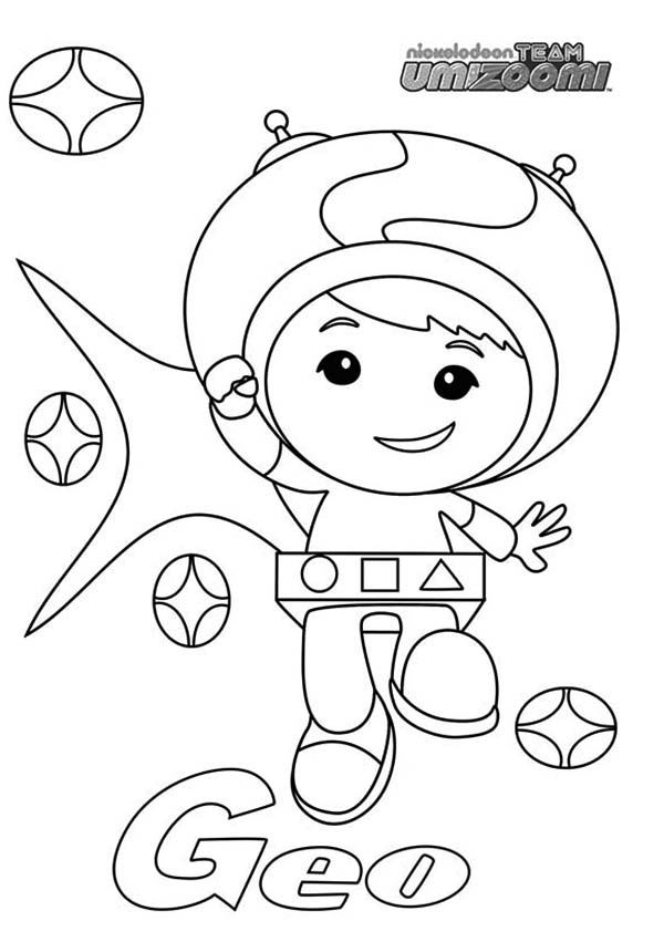Geo from Team Umizoomi Coloring Page Color Luna