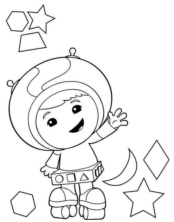 Geo the Shape Expert in Team Umizoomi Coloring Page | Color Luna
