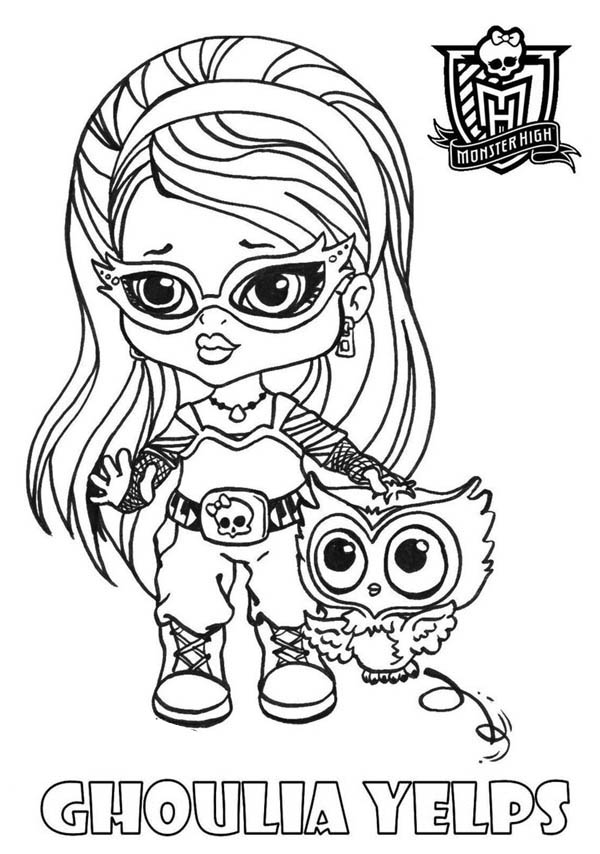 Monster High, : Ghoulia Yelps from Monster High Coloring Page