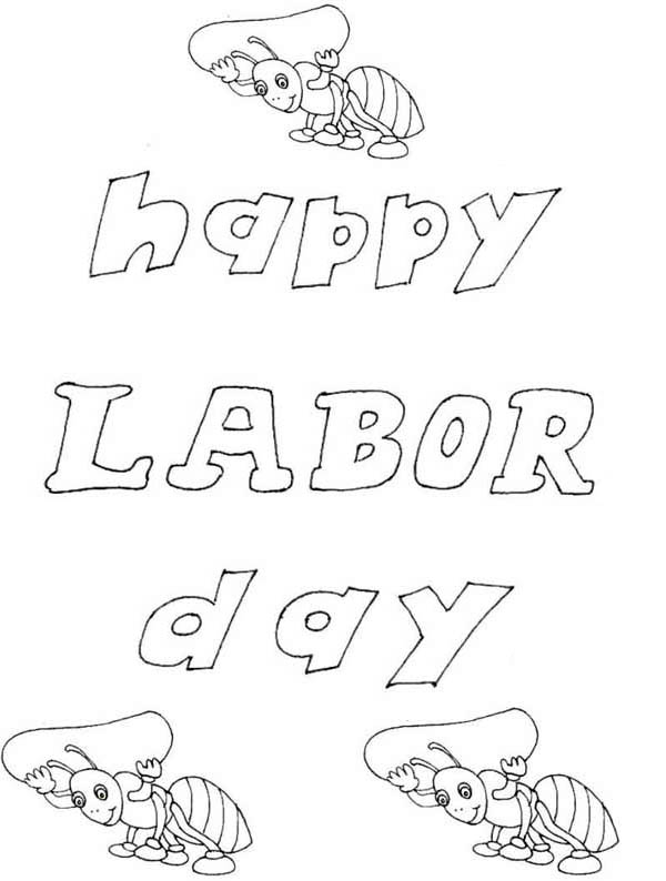 happy labor day coloring pages - photo#9