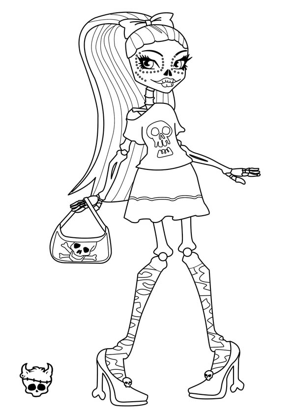 Monster High, : Hideous Monster High Character Coloring Page