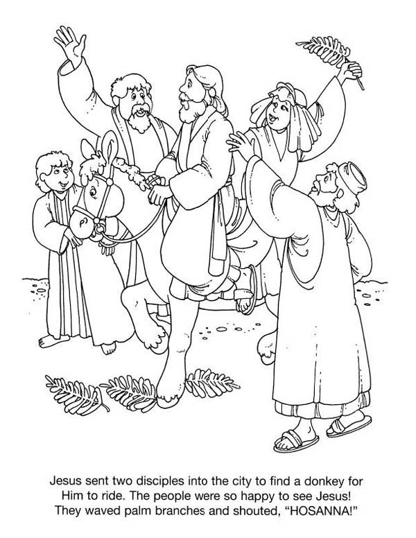 History Of Palm Sunday Coloring Page