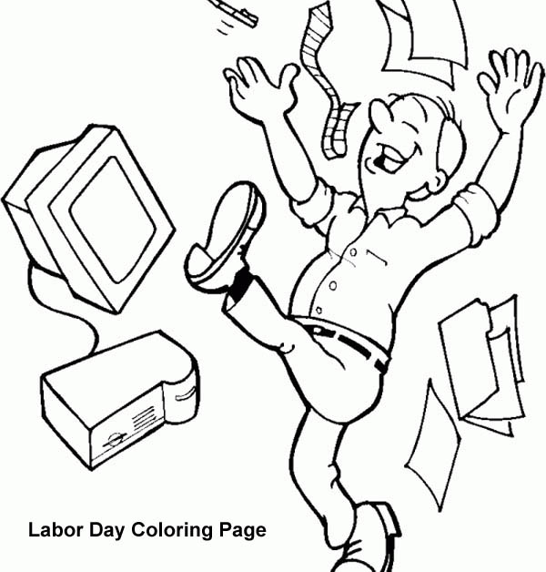 Labor Day, : Holyday in Labor Day Coloring Page