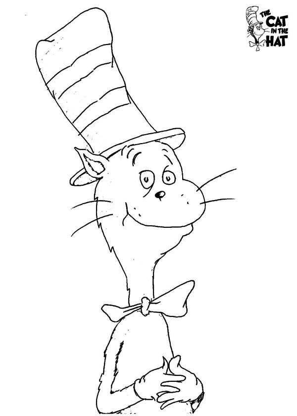 how to draw dr seuss the cat in the hat coloring page