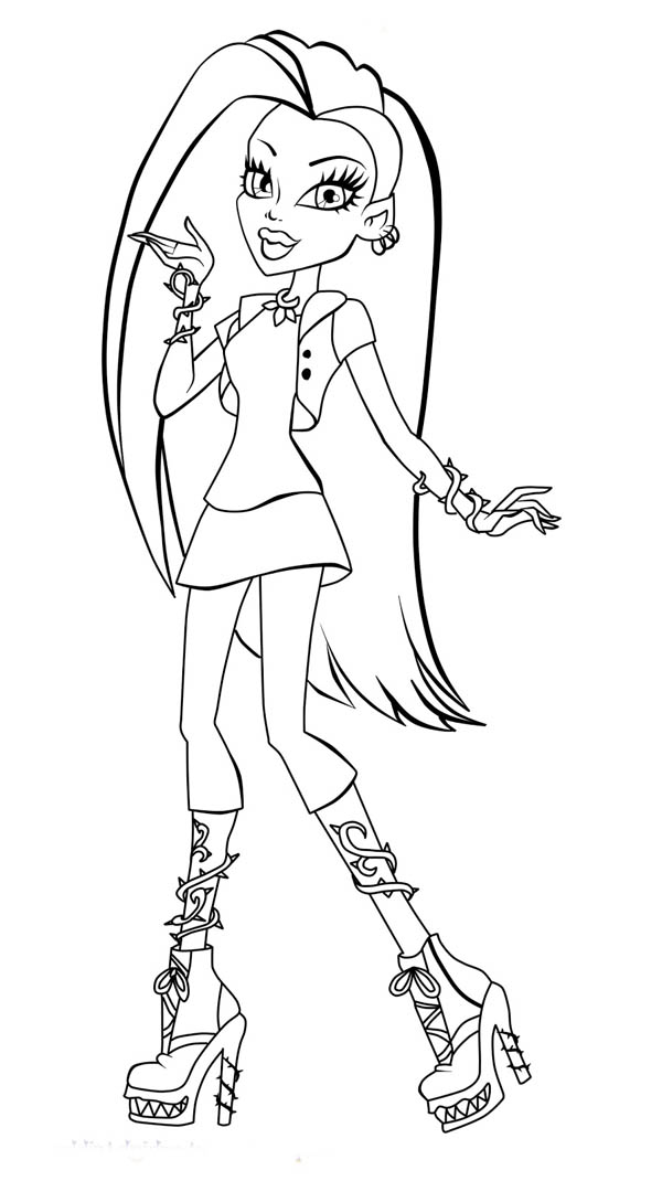Monster High, : How to Draw Monster High Character Coloring Page