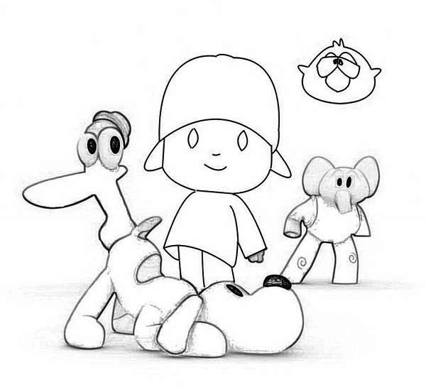 How to Draw Pocoyo and Friends Coloring Page | Color Luna