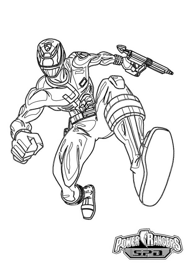 Power Rangers, : How to Draw Power Rangers SPD Coloring Page