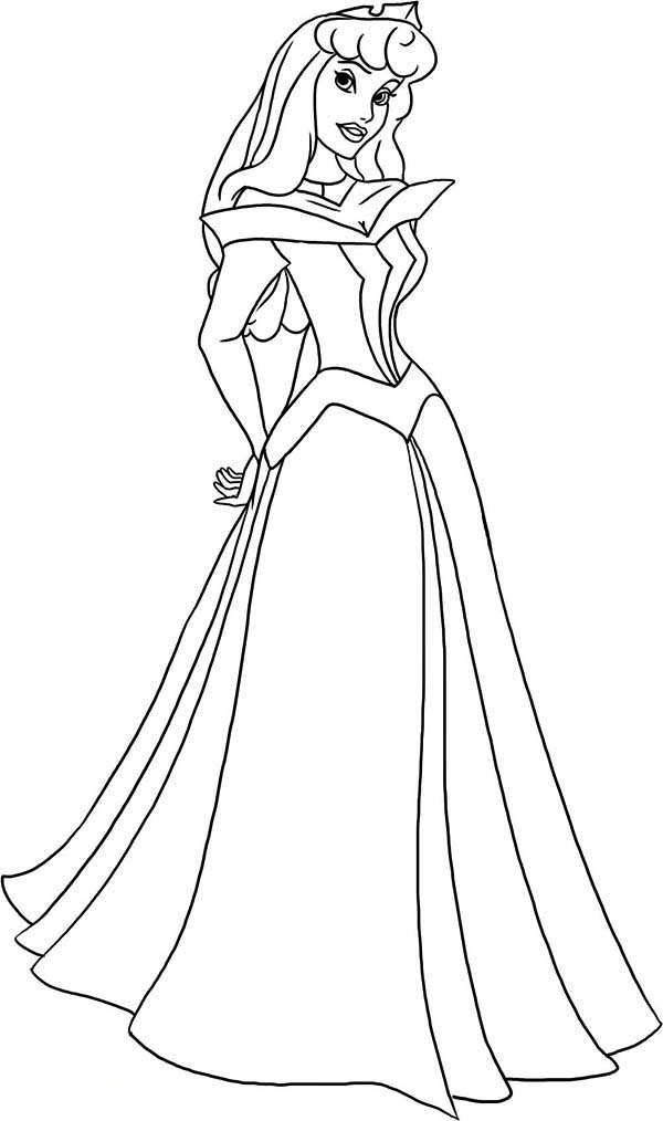 How to Draw Princess Aurora in Sleeping Beauty Coloring Page | Color ...