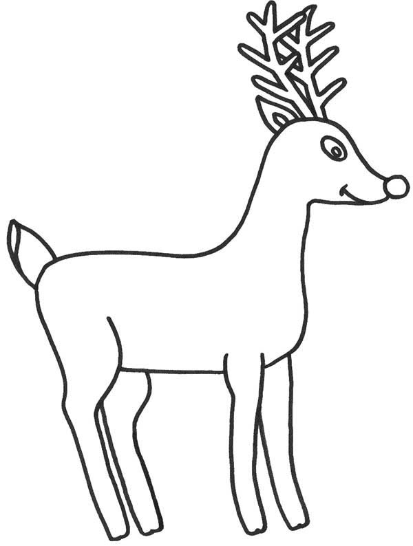 How to draw rudolph the red nosed reindeer coloring page