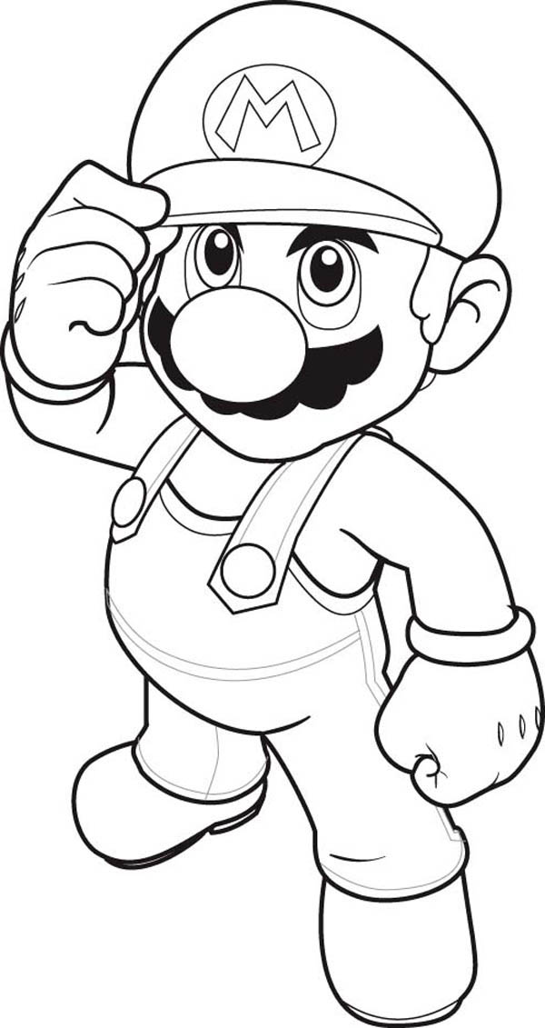 Mario Brothers, : How to Draw Super Mario Brothers Coloring Page