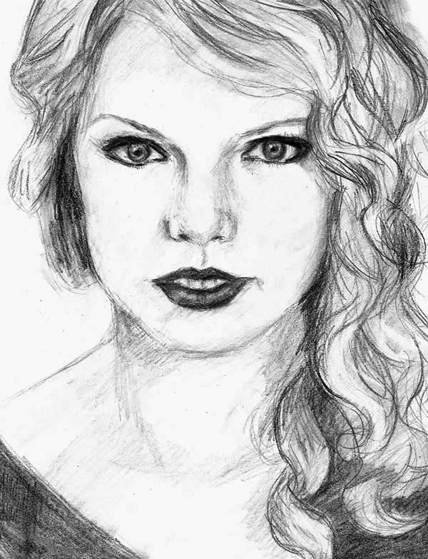 Drawing Lines With Swift : How to draw taylor swift for kids imgkid the