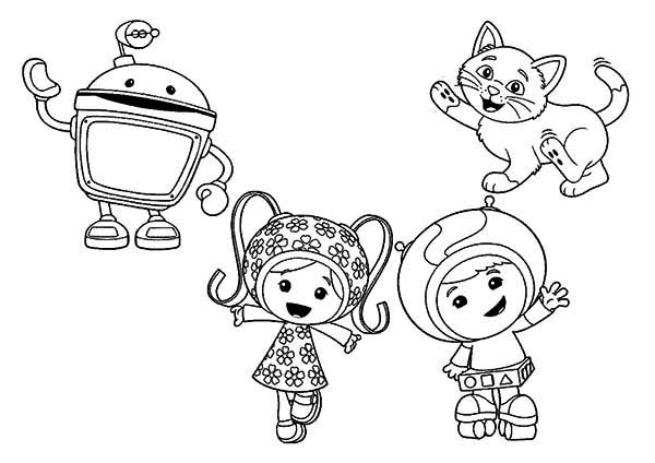 How to Draw Team Umizoomi Coloring Page Color Luna