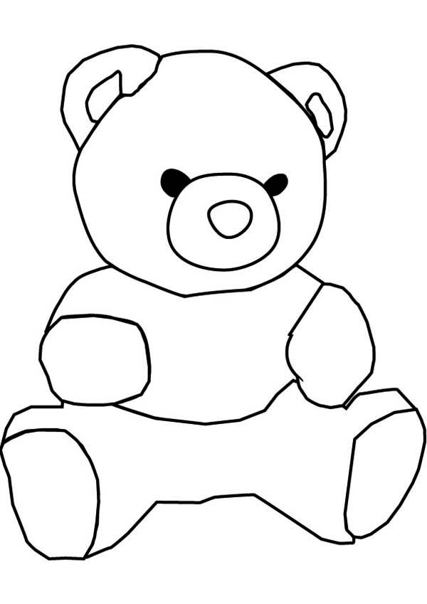 Black and white teddy bear drawing for Teddy coloring pages